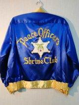50's Bowler'sヴィンテージシェリフ シュラインサテンジャケット