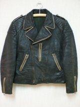 40's〜50's ブリティッシュヴィンテージWライダースジャケット