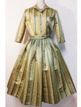 50's ROYAL LYNNE製ヴィンテージシルクドレス