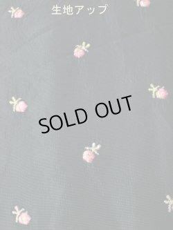 画像5: 50's 黒×ピンク薔薇刺繍ヴィンテージドレス