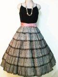 50's jr.theme NEW YORK製ヴィンテージレースティアードドレス