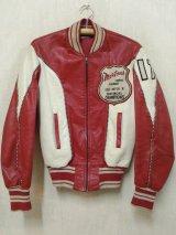 50's 赤白TwoToneヴィンテージ ホースハイドジャケット
