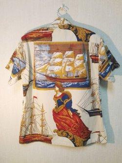 画像2: 60's MARSHALL FIELD & COMPANY航海柄ヴィンテージコットンシャツ