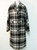 50's〜60's チェック柄織りヴィンテージコート