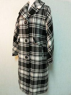 画像2: 50's〜60's チェック柄織りヴィンテージコート