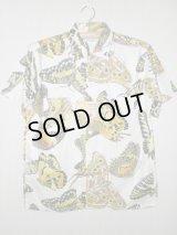 50's〜60's Manhattan製 DEAD STOCK蝶々柄ヴィンテージコットンシャツ
