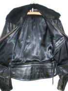 他の写真2: 60's ムートン衿付ヴィンテージポリスマンタイプシングルライダースジャケット