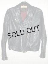 50's Franco Canadian leather wear製 D型ポケットヴィンテージWライダースジャケット