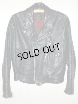 画像1: 50's Franco Canadian leather wear製 D型ポケットヴィンテージWライダースジャケット