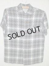 60's SIR GUY製チェックモザイク柄ヴィンテージシャツ